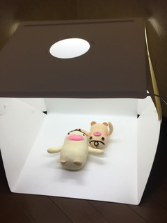 イケダム in 撮影ボックス - 天井の穴