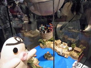 イケダム in ドラクエミュージアム 気球のジオラマ