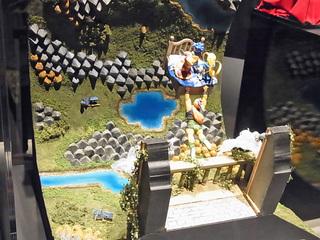 イケダム in ドラクエミュージアム 空飛ぶベッドのジオラマ